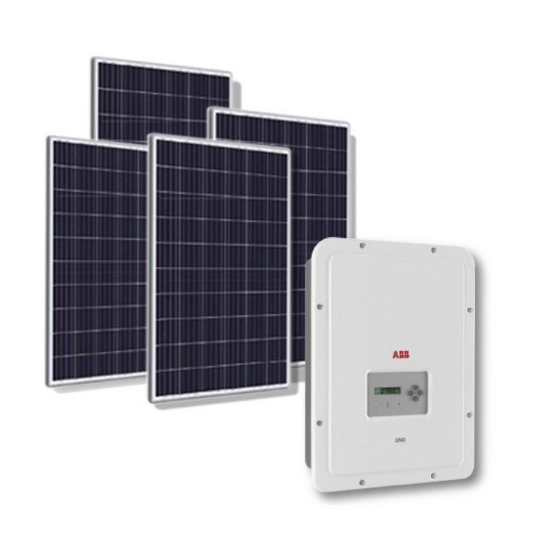 Kit-Fotovoltaico-in-Rete-ABB-UNO-DM-4.0kW-Pannello-Solare-270W-Scambio-sul-Posto